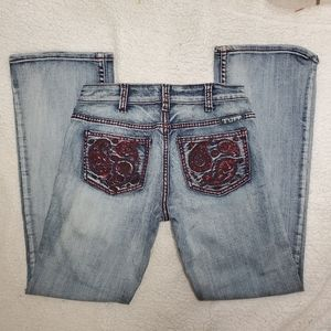 Cowgirl Tuff Red Paisley Jeans